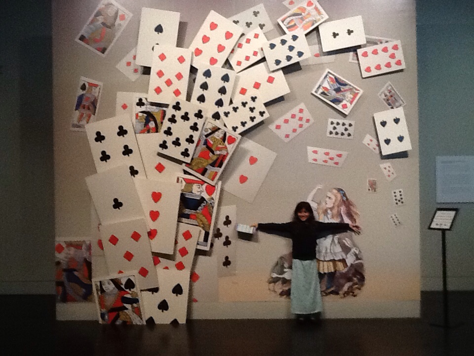 The Alice in Wonderland exhibit at the Harry Ransom Center.