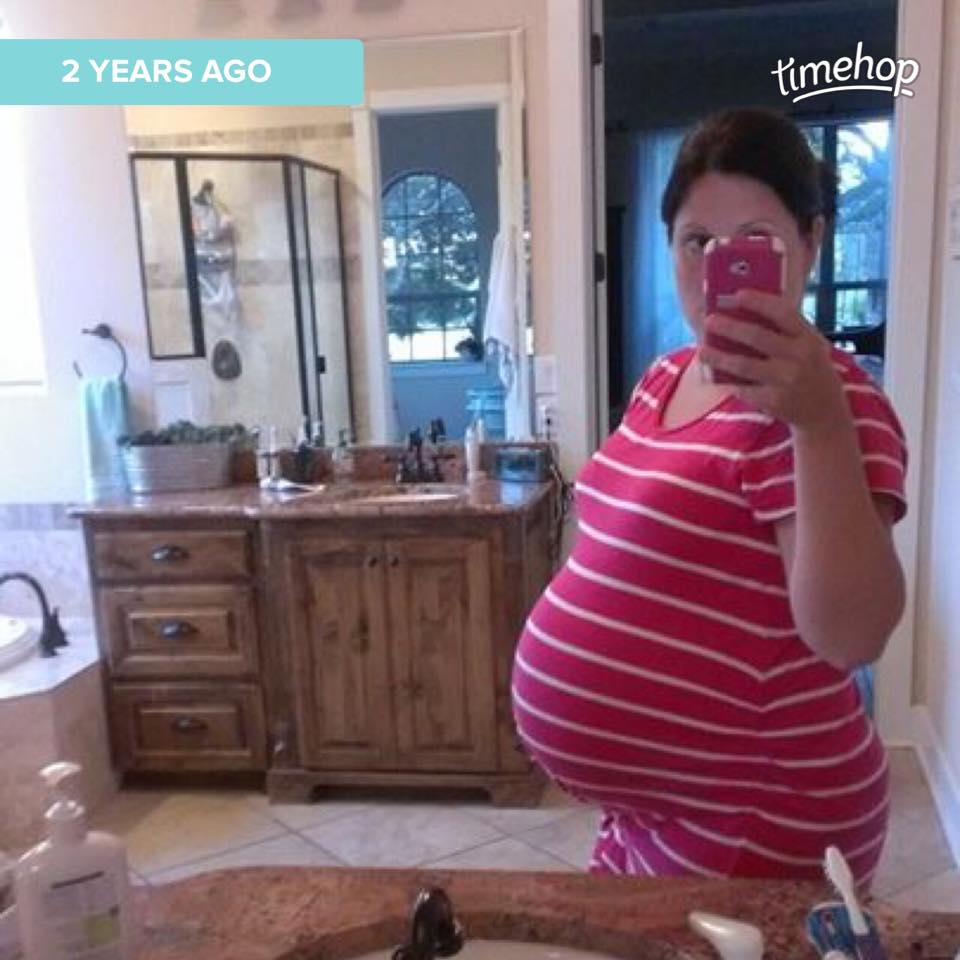 I didn't take many pictures of my growing belly. This selfie was taken at 30 weeks.