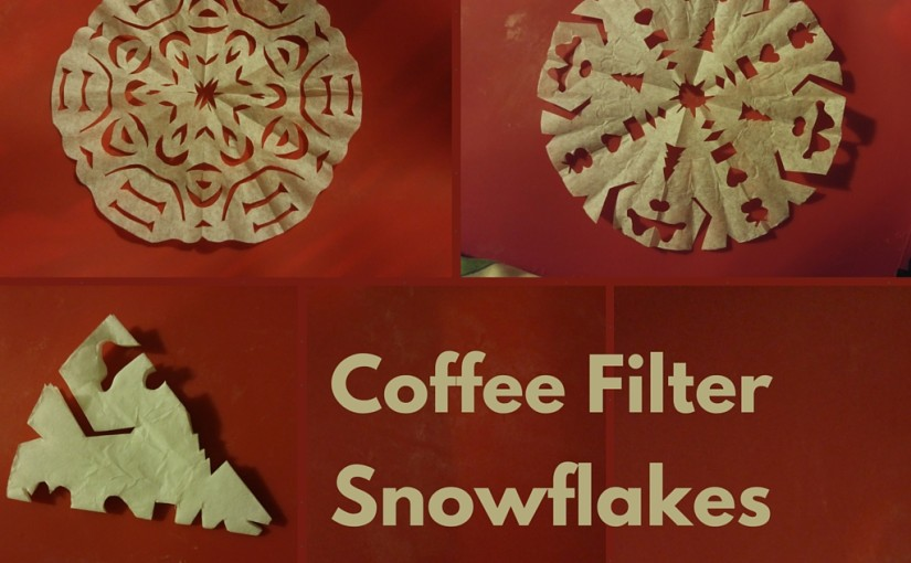 Make-It Monday: Coffee Filter Snowflakes