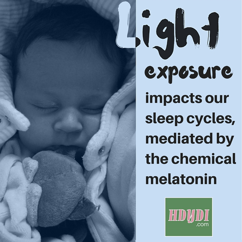 Consider gradually dimming lights around your little one as part of sleep training.