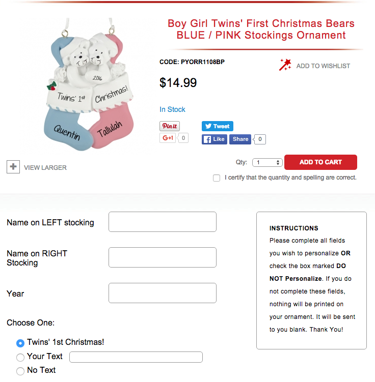 Ordering affordable personalized ornaments could not be easier! #POFY has a huge variety of family themed christmas ornaments as well as others.