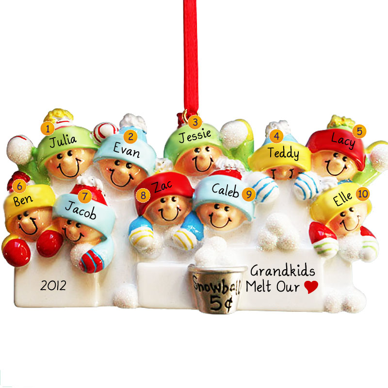 A great keepsake for a BIG family! #POFY has great family themed christmas ornaments.