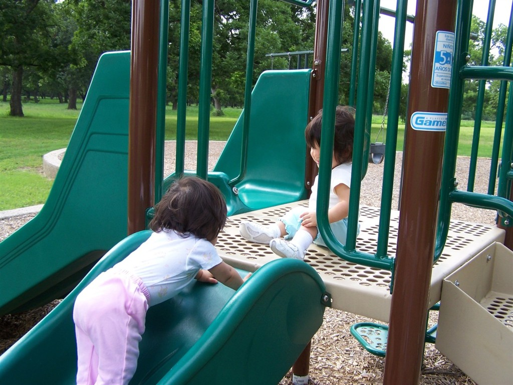 These new walkers are all about the playground! Kids with special needs may not be able to even reach the equipment when wood chips are in the way.
