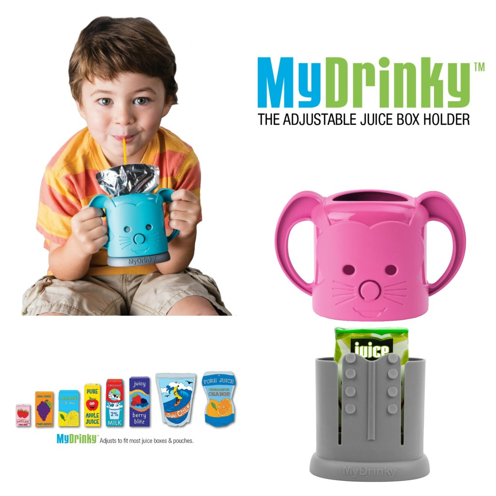 Inchbug MyDrinky makes juiceboxes and packs less messy in little hands.